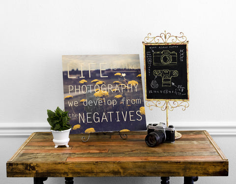"Exclusive ""Life is Like Photography"" Wood Print"