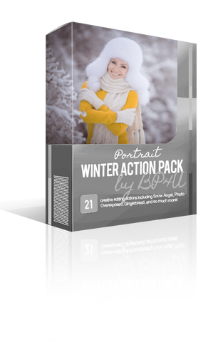 Winter Portrait Action Pack (Photoshop)