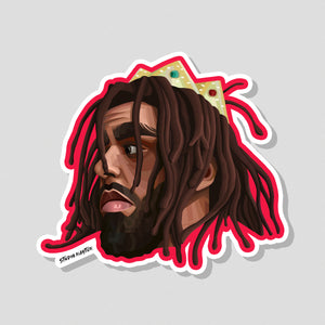 J Cole Sticker