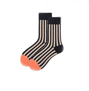Socks Danny Striped Black Grey