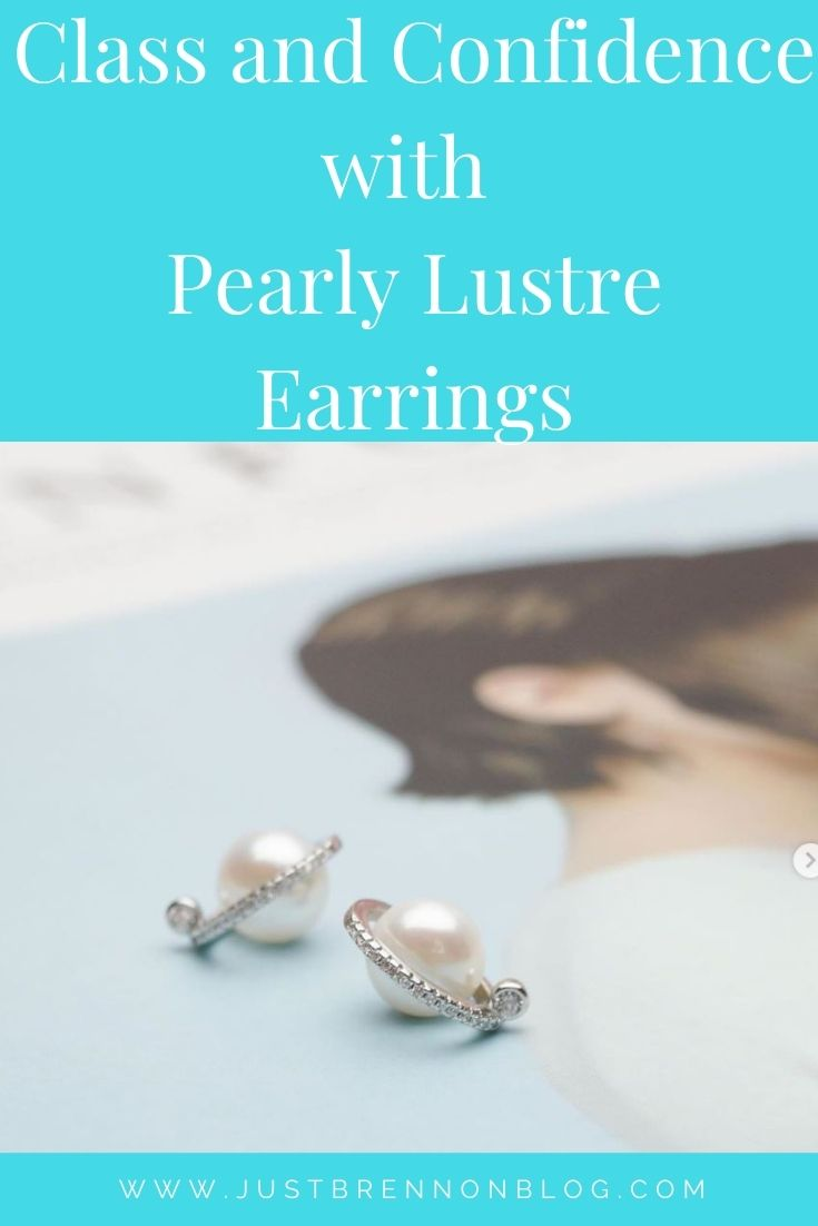CLASS AND CONFIDENCE WITH PEARLY LUSTRE EARRINGS