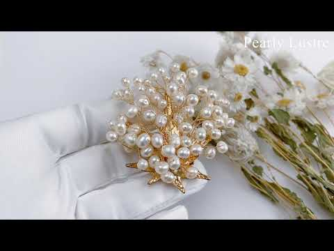 Pearly Lustre Passion for Life Freshwater Pearl Brooch WC00006 Product Video