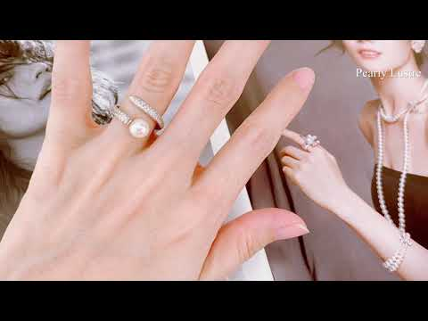 Pearly Lustre Elegant Freshwater Pearl Ring WR00023 Product Video