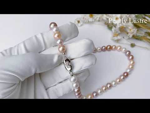 Pearly Lustre Elegant Freshwater Pearl Necklace WN00035 Product Video