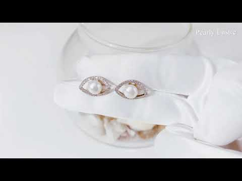 Pearly Lustre New Yorker Freshwater Pearl Earrings WE00075 Product Video