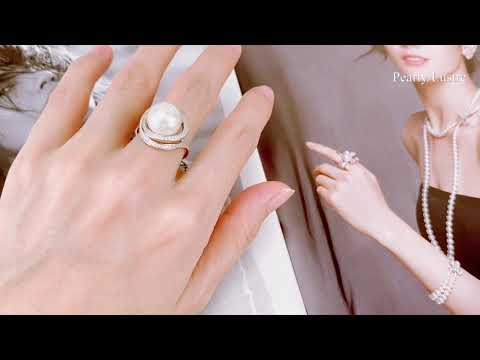 Pearly Lustre Elegant Freshwater Pearl Ring WR00034 Product Video