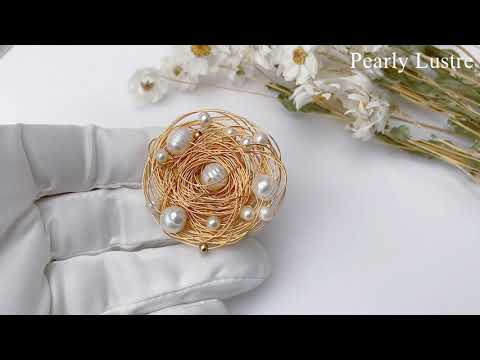 Pearly Lustre Passion for Life Freshwater Pearl Brooch WC00007 Product Video