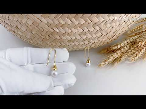 Pearly Lustre Elegant Freshwater Pearl Earrings WE00044 Product Video