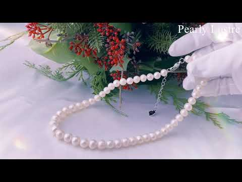 Pearly Lustre Elegant Freshwater Pearl Necklace WN00105 Product Video