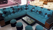 Load and play video in Gallery viewer, Corner Lounge Sofa Set