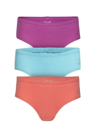 Jockey Solid Assorted Girls Panty Pack Of 3