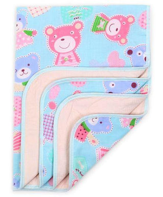 Diaper Changing Mat Teddy Print - Blue