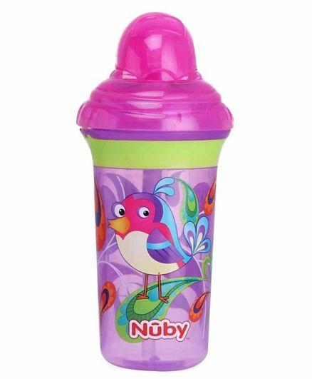 Nuby Click It No Spill Flip It Straw Cup - 270 Ml