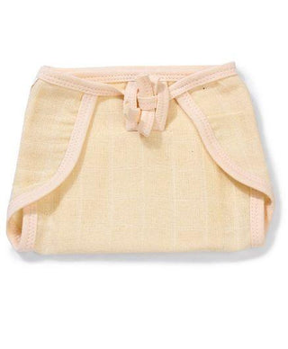 U Shape Reusable Muslin Nappy Set Lace Extra Small Pack Of 5 Peach