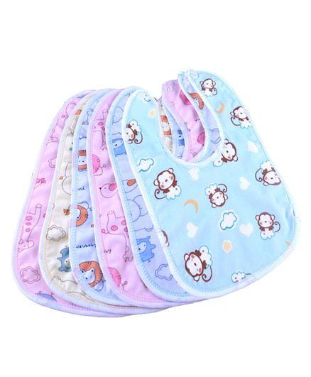 Cotton Bibs Set of 6