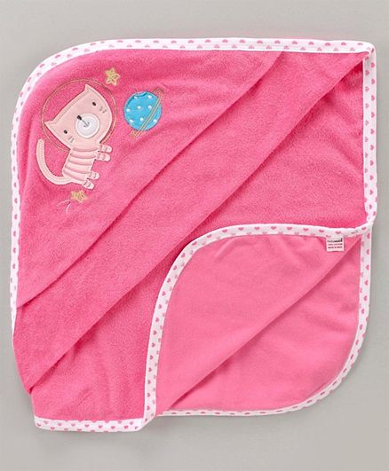 Cucumber Hooded Towel Tiger Patch - Pink