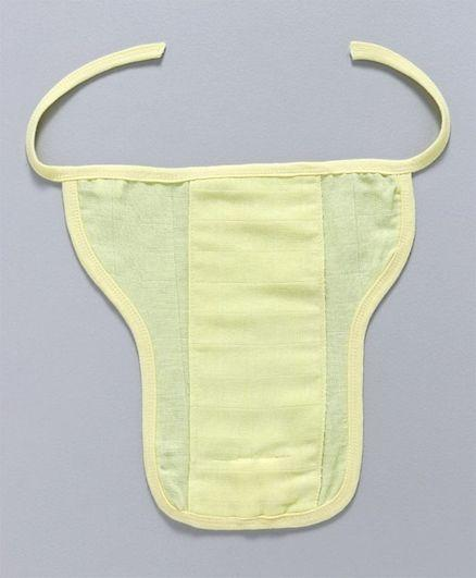 U Shape Reusable Muslin Nappy Set Lace Extra Small Pack Of 5 Lemon Yellow