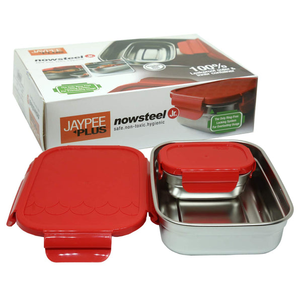 Jaypee Plus Stainless Steel Lunch Box Now Steel Jr- 2 Pieces - Pintoo Garments