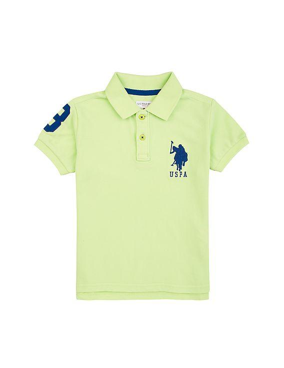 U.S. POLO ASSN BOYS T-SHIRT Light Green