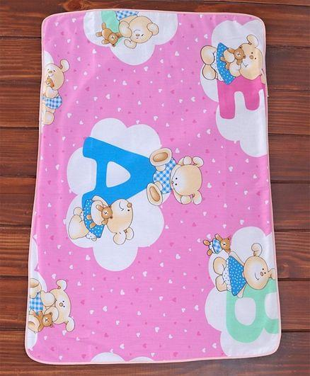 Diaper Changing Mat White & Pink
