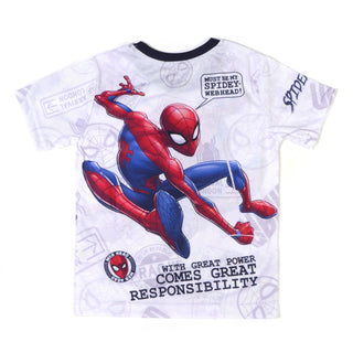 Boys Fancy T Shirts Spider Main With Mask