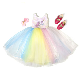 Girls Party Gown Multi