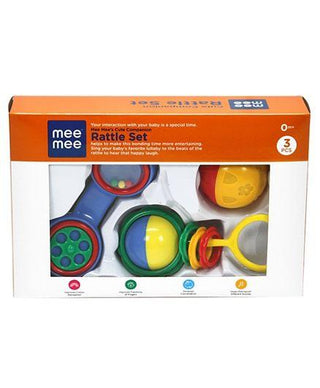 Mee Mee Baby Rattele Set Of 3 - Multicolor