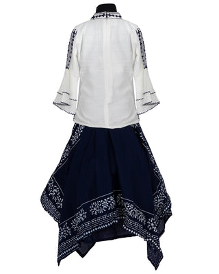 Girls Choli Set Navy Blue 340