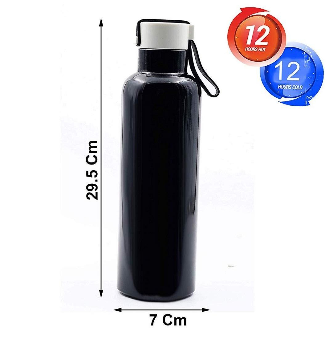 Infinity Tradelink Double Wall Insulated Hot & Cold Water Bottle with Silicon Ring with Lid - Pintoo Garments
