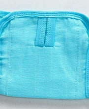 Load image into Gallery viewer, U Shape Reusable Muslin Nappy Set Lace Extra Small Pack Of 5 Aqua