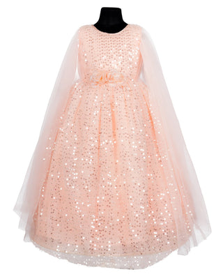 Girls Party Gown Peach 510