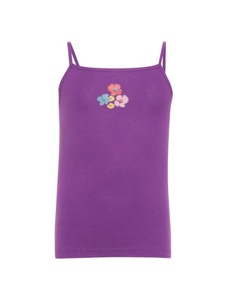 Jockey Violet With Assorted Print Girls Camisole