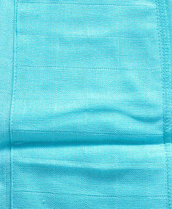 U Shape Reusable Muslin Nappy Set Lace Extra Small Pack Of 5 Aqua