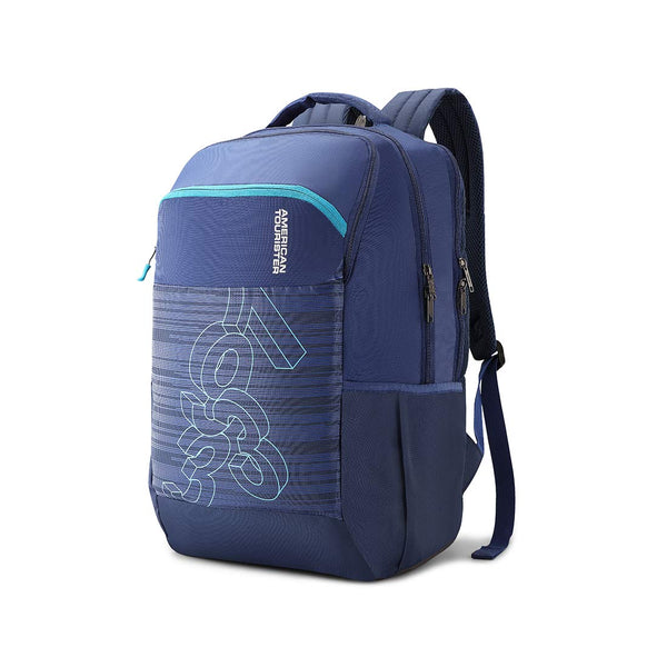 American Tourister Jet 28 Ltrs Blue Casual Backpack (FE0 (0) 01 001)