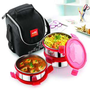 Cello Max Fresh Click 3 Plus Stainless Steel Lunch