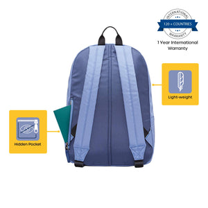 American Tourister Rudy 21 Ltrs Denim Blue Casual Backpack (GT1 (0) 51 001)