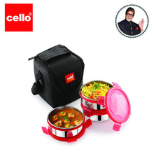 Load image into Gallery viewer, Cello Max Fresh Click 3 Plus Stainless Steel Lunch