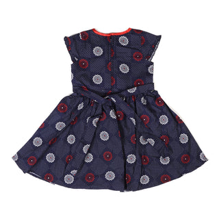 Girls Casual Frock Navy Blue