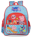 My Baby Excels Peppa Pig Pink Blue School Backpack