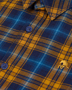 Boys Checks Shirt Yellow