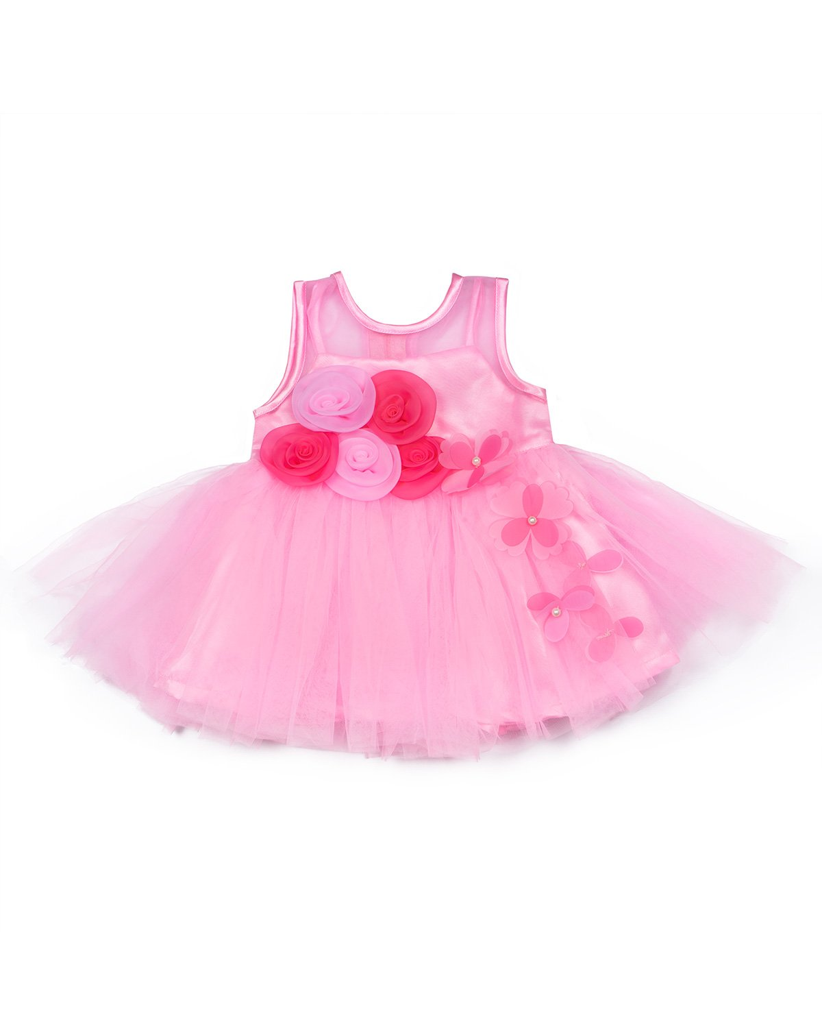 Pink Flared Party Frock