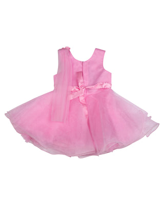 Girls Party Frock Pink BS 5320