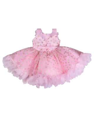 Girls Party Frock Pink BS 5345
