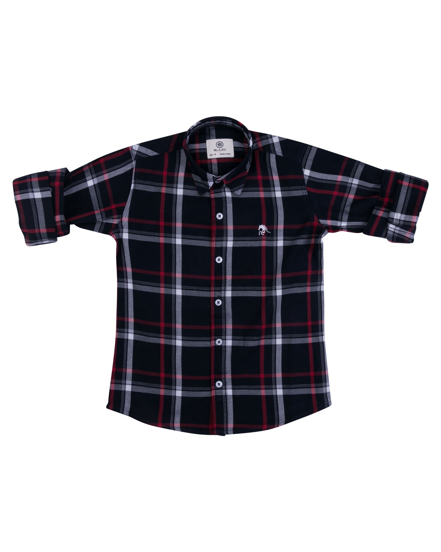 Boys Multicolor Checks Shirt
