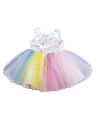 Girls Unicorn Party Frock Maroon E 592
