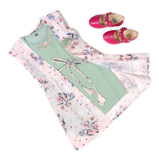 Girls Fancy Midi Green