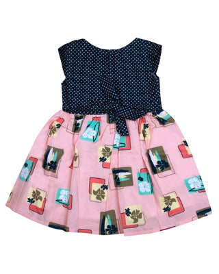 Girls Casual Frock Peach 9237