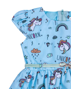 Unicorn Printed Casual Frock