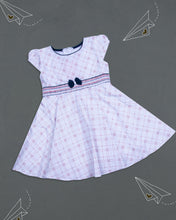 Load image into Gallery viewer, White Checks Printed Cotton Frock