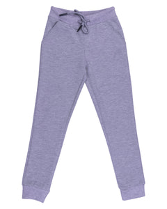 Solid Grey Stretchable Track Pant